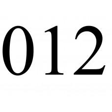Betűk, számok - Számok - fekete
