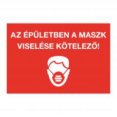 Kérjük, az üzletben viseljen maszkot! - piktogram
