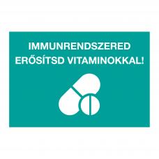 Immunrendszered erősítsd vitaminokkal- piktogram