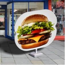 Hamburgeres megállítótábla